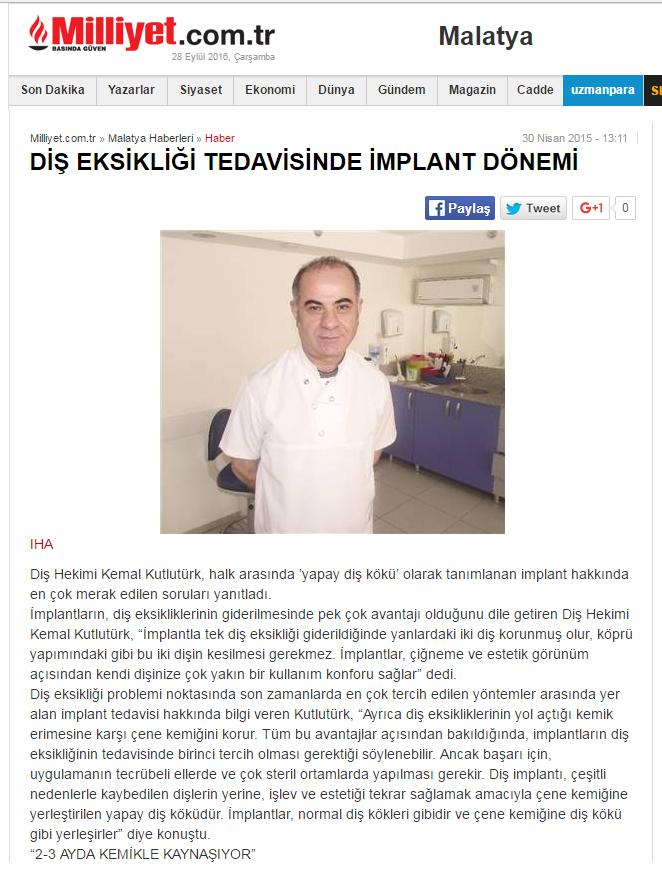 Diş Hekimi Kemal Kutlutürk